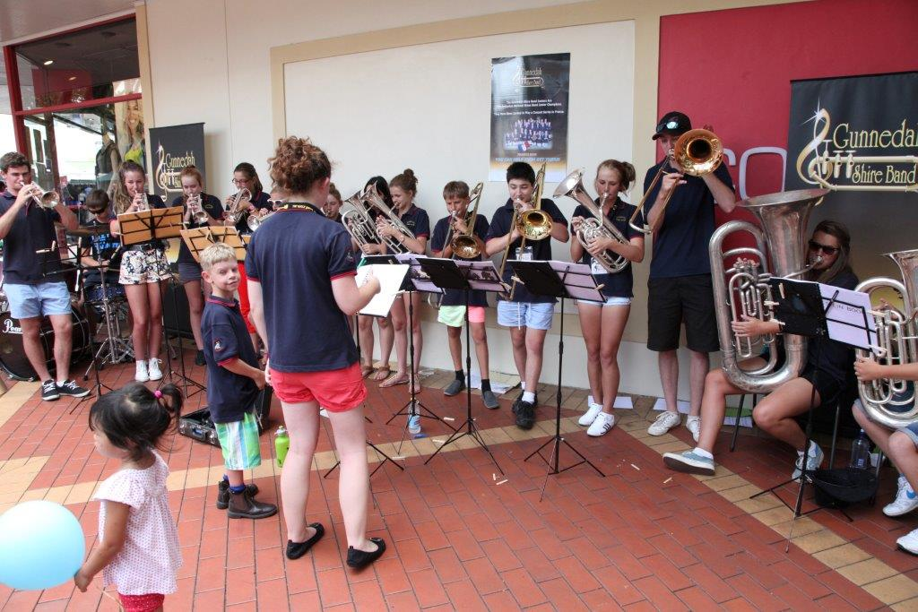 Busking in Tamworth Gunnedah Shire Band Juniors Medium